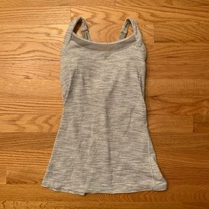 Lululemon grey and white tank top